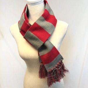 Cejon scarf long striped red & gray